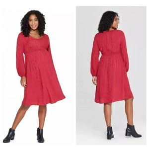 Maternity Dress Ingrid & Isabel Red Small NEW NWT